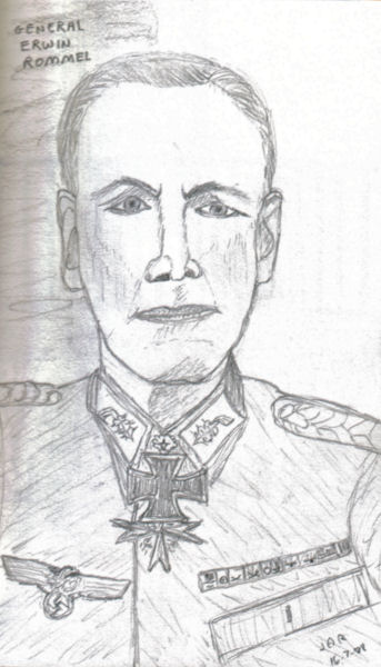 Commander of the Africa Corps - General Erwin Rommel